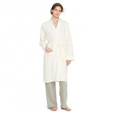 Quilted Shawl-Collar Robe