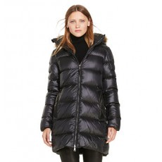 Leather-Trim Down Coat _ More 40 % Off