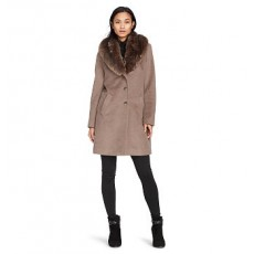 Shawl-Collar Wool-Blend Coat _ More 40 % Off