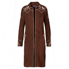 Houston Embroidered Suede Coat