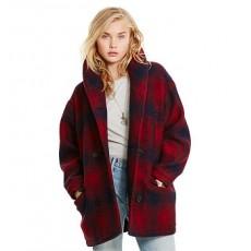 Plaid Wool Shawl Coat _ More 40 % Off