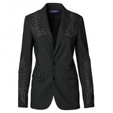 Curtis Pinstriped Wool Jacket