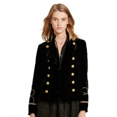 Velvet Double-Breasted Jacket _ More 40 % Off