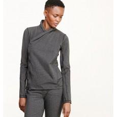 Asymmetrical Zip Jersey Jacket _ More 40 % Off