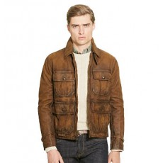 Leather Utility Jacket _ More 40 % Off