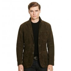 Suede Three-Button Jacket _ More 40 % Off