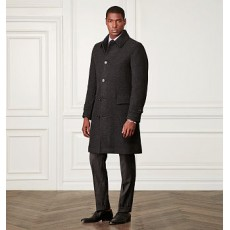 Wool-Cashmere Twill Topcoat