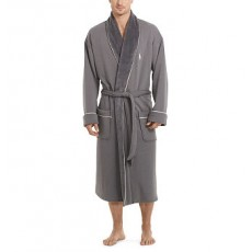 Fleece-Lined Shawl-Collar Robe _ More 40 % Off