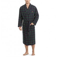 Plaid Cotton Flannel Robe _ More 40 % Off