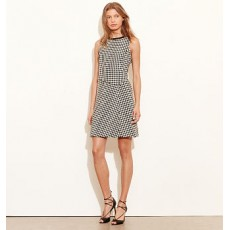 Houndstooth Overlay Dress _ More 40 % Off