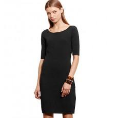 Knit Ballet-Neck Dress _ More 40 % Off