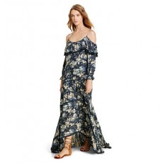 Ruffled Off-the-Shoulder Dress _ More 40 % Off