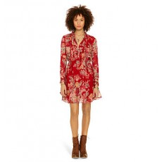 Floral Pleated-Bib Dress _ More 40 % Off