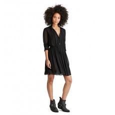 Velvet-Trim Sheer Dress _ More 40 % Off