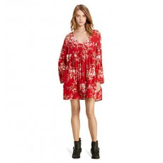 Floral-Print Bell-Sleeve Dress _ More 40 % Off