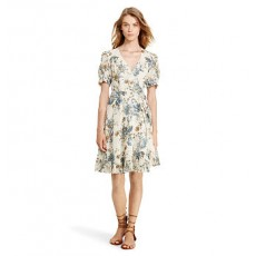 Floral-Print Gauze Wrap Dress _ More 40 % Off
