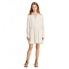 Crepe Long-Sleeve Dress _ More 40 % Off