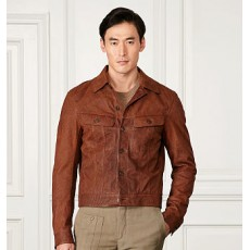 Clifton Leather Trucker Jacket