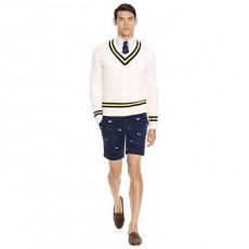 Straight-Fit Embroidered Short _ More 40 % Off